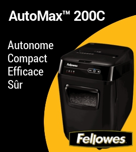 Destructeur automatique AutoMax 200C de Fellowes